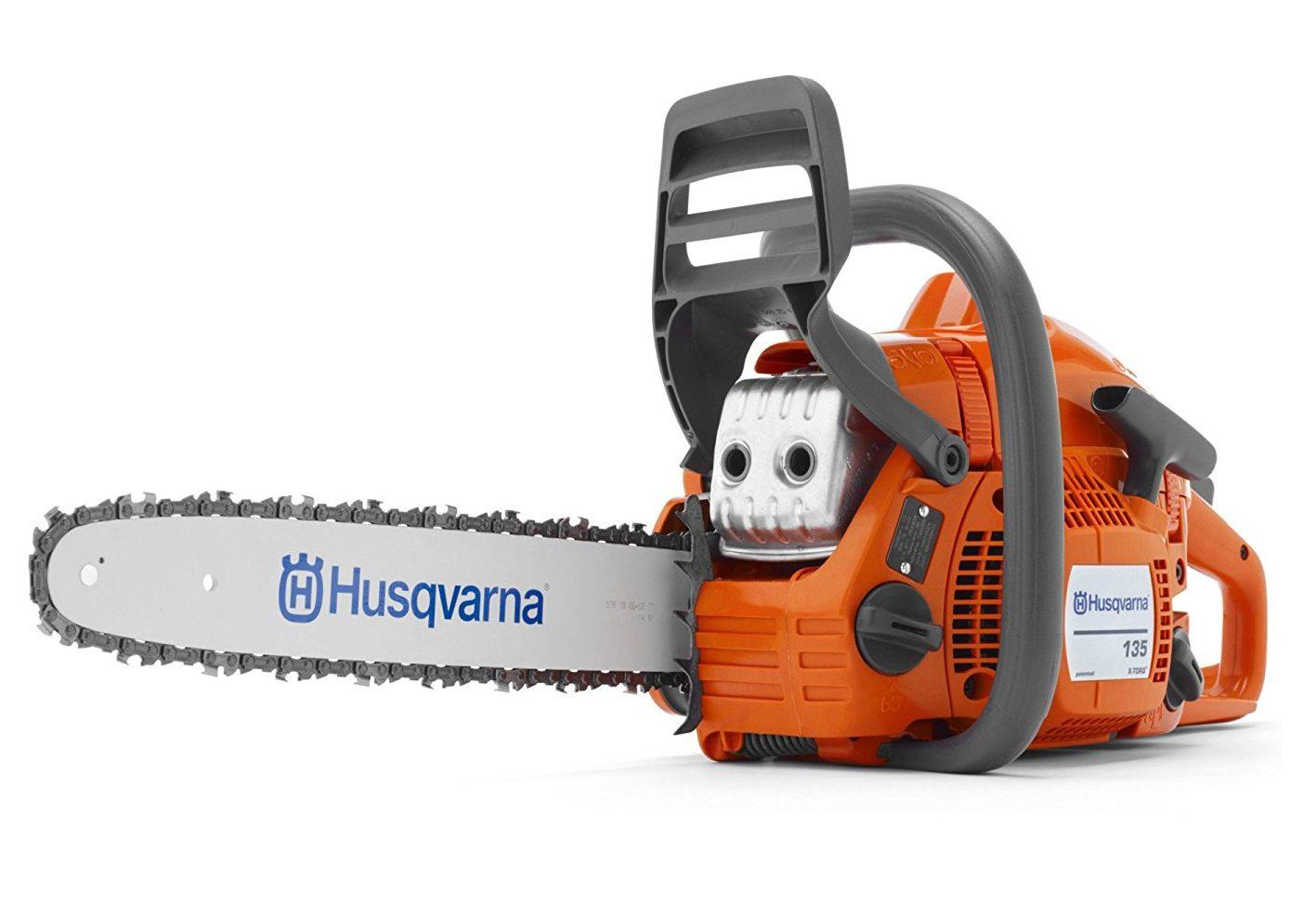 Husqvarna135e TB. La Motosierra más segura del 2019